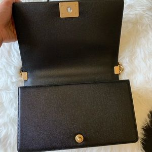 CHANEL Bags - Authentic Chanel Large boy caviar skin gold HW